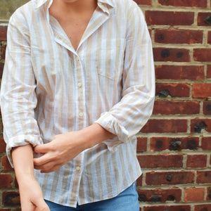 Striped Boyfriend Button-Up